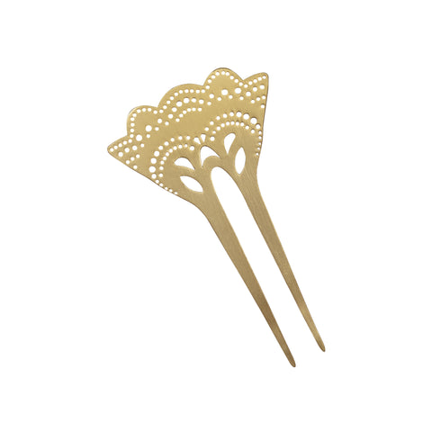 Hair Comb, Metal Hair Comb, Decorative Hair Comb, Gold Plated Hair Comb