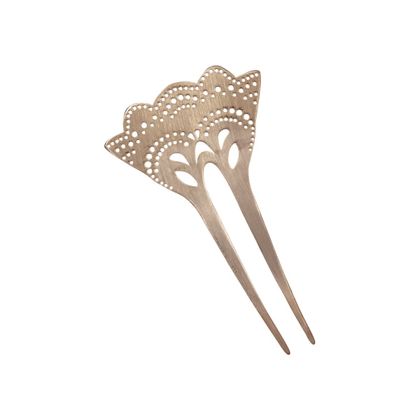 Hair Comb, Metal Hair Comb, Decorative Hair Comb, Rosegold Plated Hair Comb