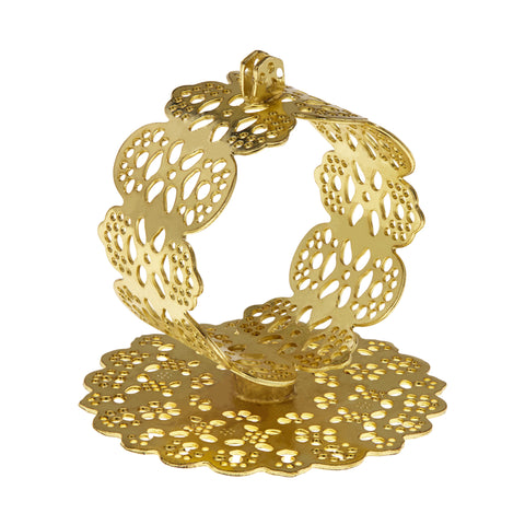 Napkin Holder, Lace Napkin Holder, Doily Napkin Holder, Metal Napkin Holder, Handcrafted Napkin Holder, Handmade Napkin Holder, Gold Napkin Holder