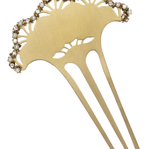 Embellished Scalloped Hair Comb