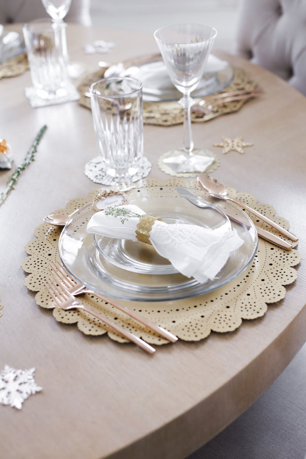 Lace Doily Metal Placemat Charger 1
