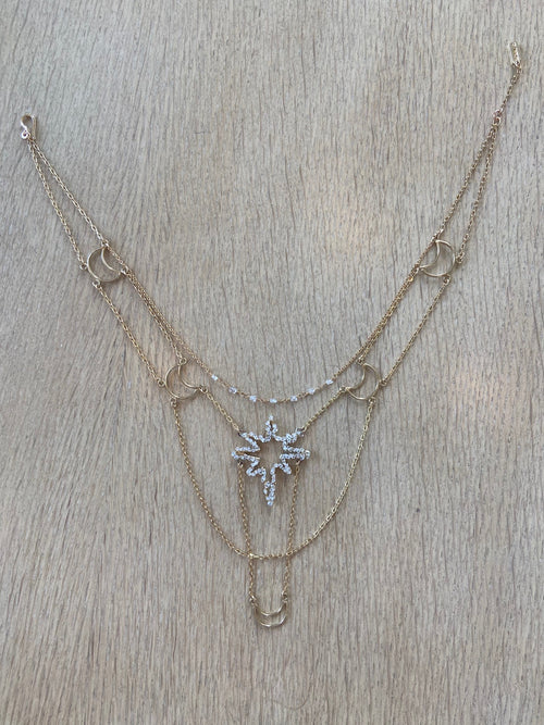 North Star Celestial Herkimer Diamond Necklace