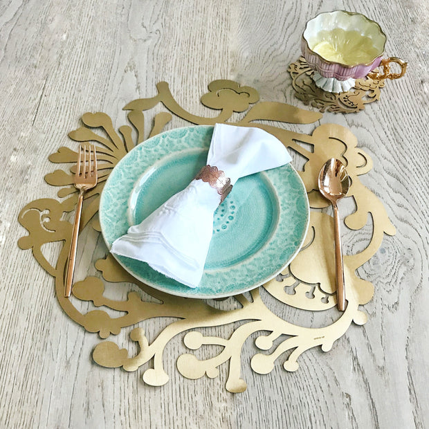 Floral Wreath Placemat Charger 1