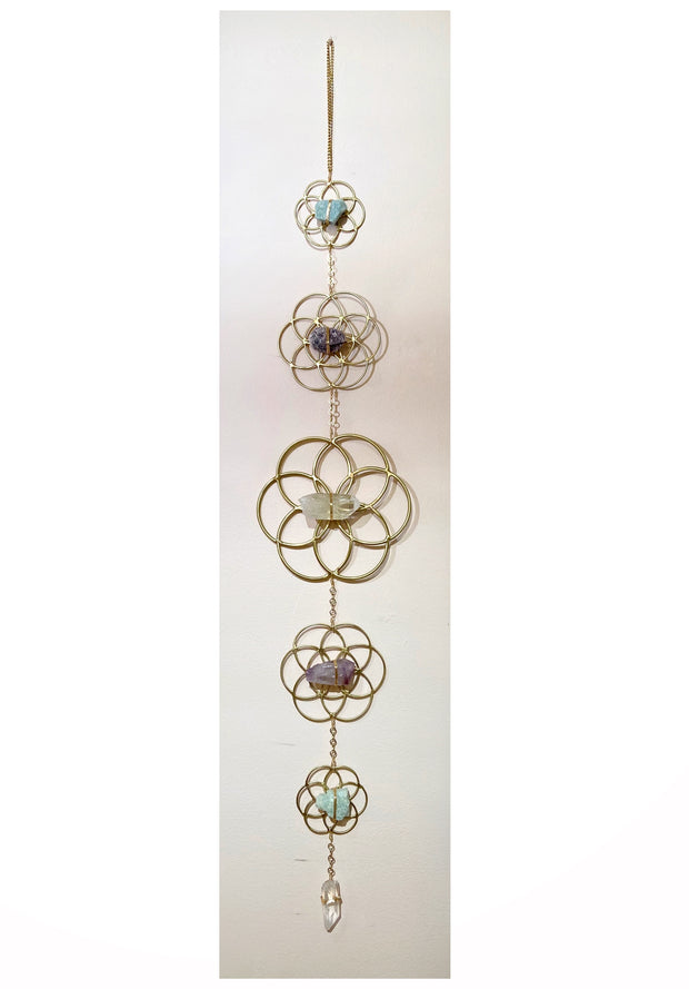 Crystal Grid Flower of Life Wall Hanging 1