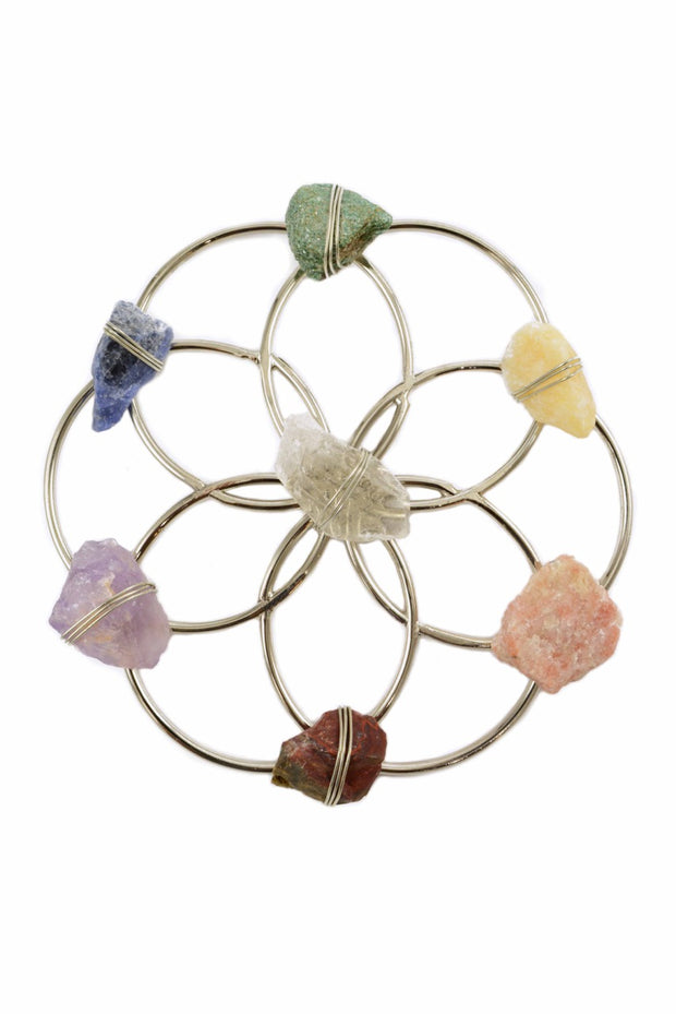 Tuning Fork & Chakra Crystal Grid Instrument Set for Sound Healing 1