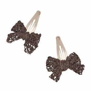 Small Metallic Lace Hair Clip