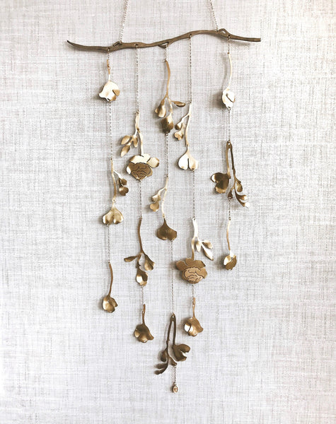 Wall Hanging, Floral Wall Hanging, Metal Wall Hanging, Handcrafted Wall Hanging, Handmade Wall Hanging