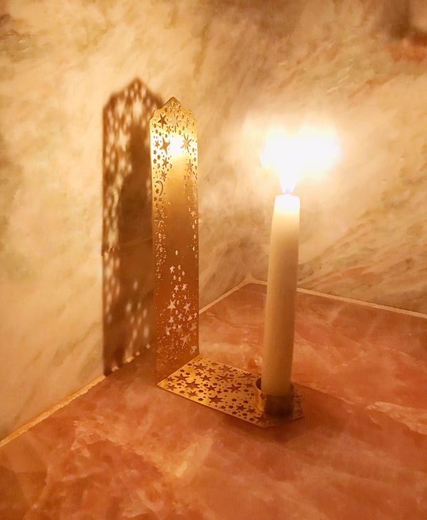 Reflective Twinkling Star Candle Holder 1
