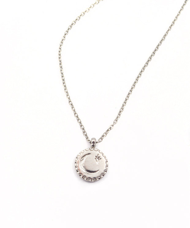 Moon North Star Pendant Necklace 1