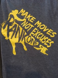 S020-D Make Moves Not Excuses heather denim