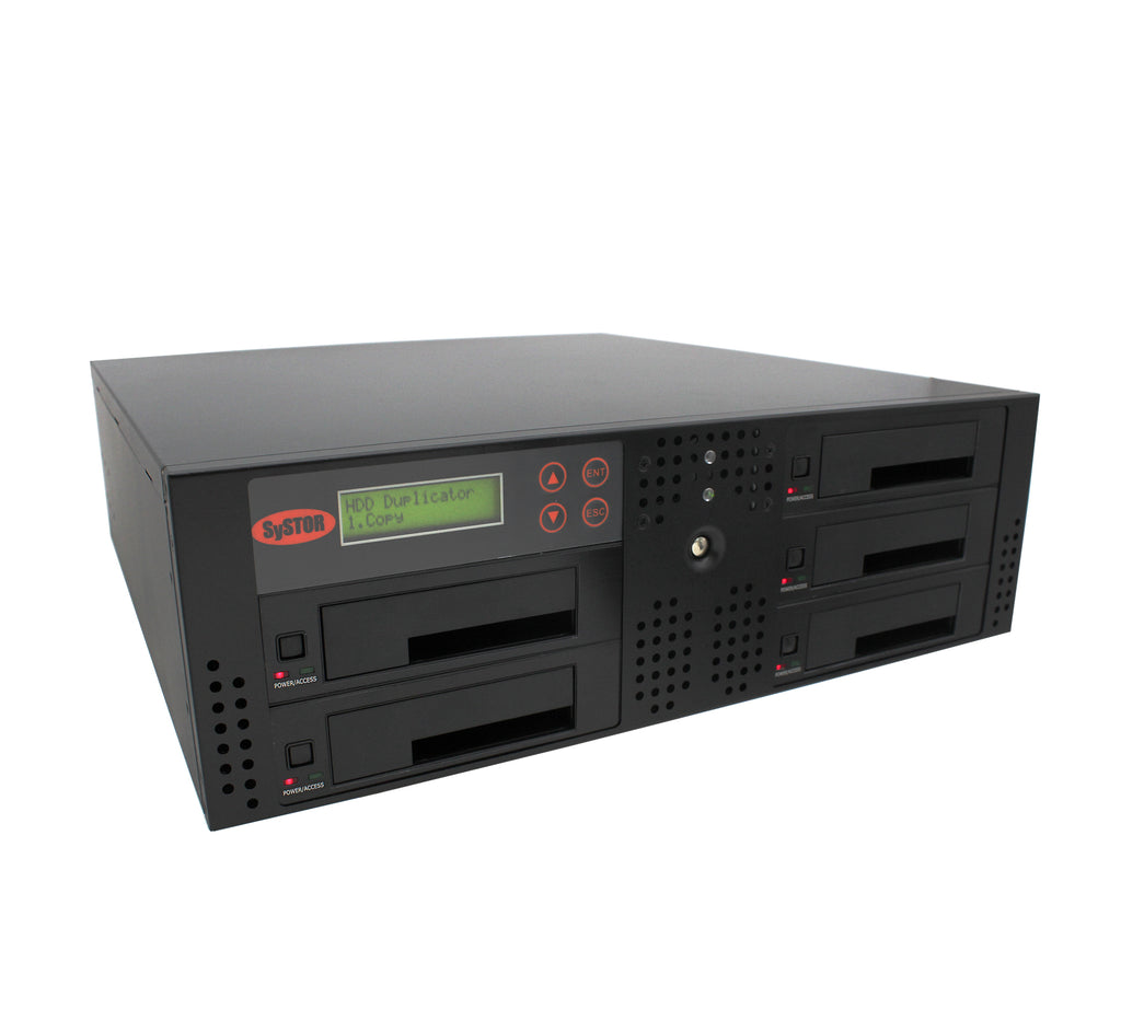 Systor 1 to 4 SATA 90MB/S Rackmount Hard Disk Drive / Solid State Drive (HDD/SSD) Duplicator & Sanitizer (SYS104RMHDD-DP)