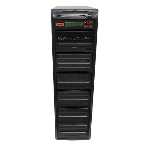 Systor MultiMedia Center - Flash Memory Drive (USB/SD/CF/MS/MMC) to Disc Backup + 1 to 10 SATA CD/DVD Duplicator - PMBC-10