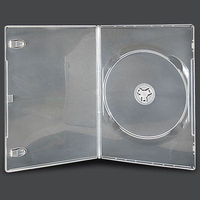7mm Slim Single Disc Capacity Clear DVD Cases - ProDuplicator.com