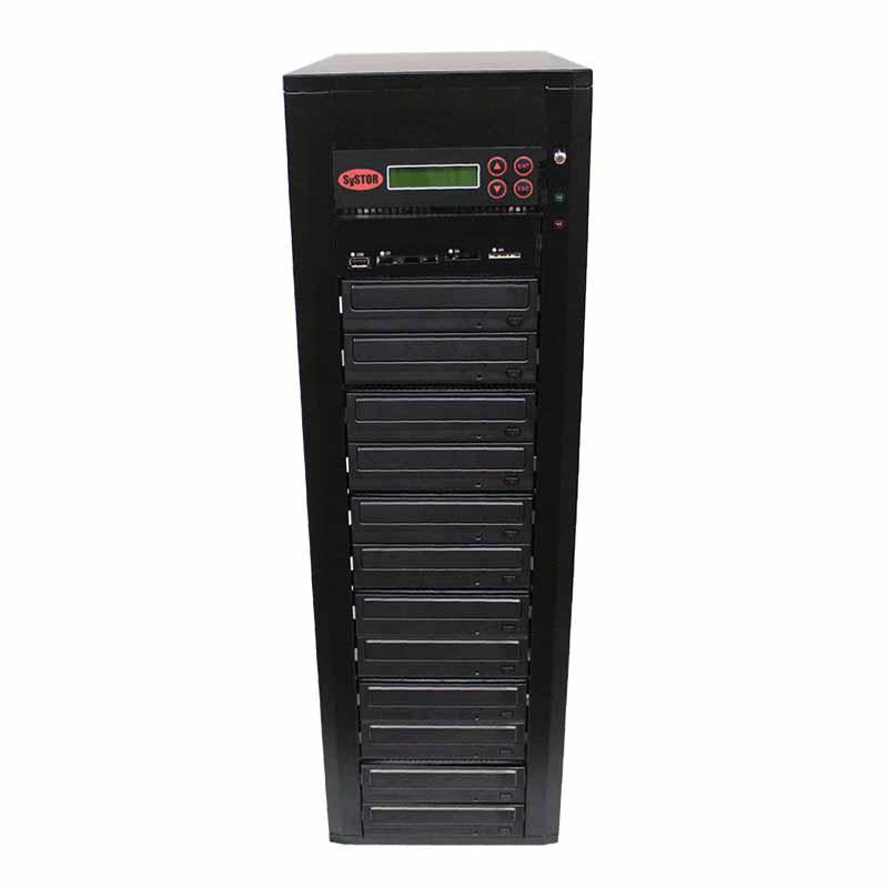Systor MultiMedia Center - Flash Memory Drive (USB/SD/CF/MS/MMC) to Disc Backup + 1 to 11 SATA CD/DVD Duplicator - PMBC-11