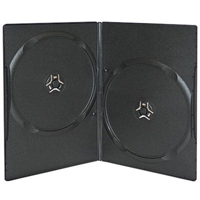 7mm Slim Double Disc Capacity Black DVD Cases - ProDuplicator.com