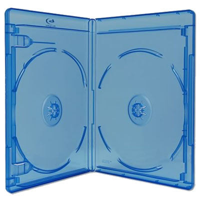 12mm Standard Double Disc Capacity Blu-ray Case Blu-ray Logo - ProDuplicator.com