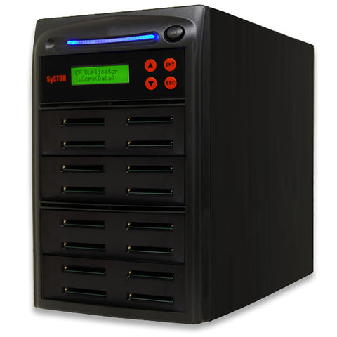 Systor 1 to 15 Compact Flash CF Duplicator & Sanitizer - SYS-CFD-15