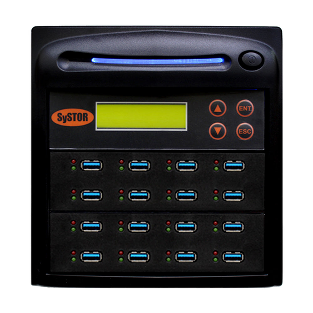 Systor 1:15 USB 3.1 100MB/s Flash Drive Duplicator - (SYS-USB30100-15) - Up to 6GB per Minute