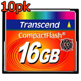 Transcend Compact Flash / CF Memory Card (133X) - 10 Pack