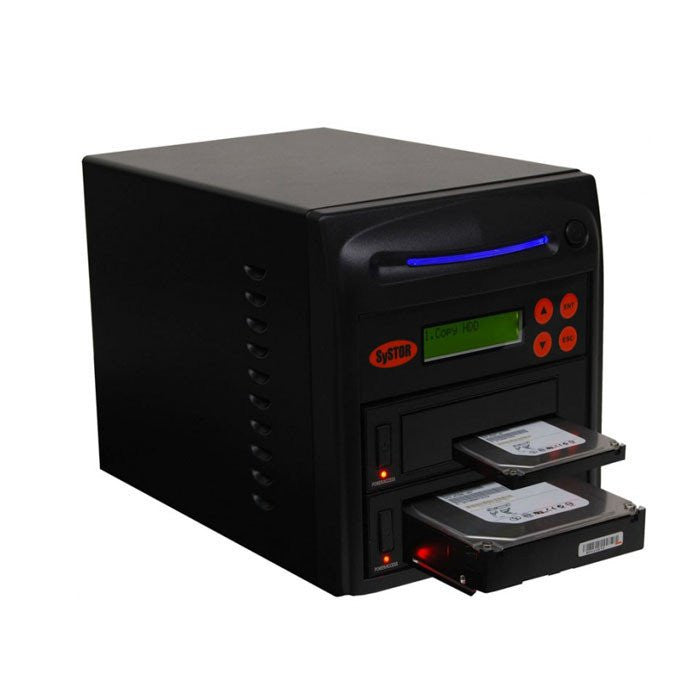 "Systor 1 to 1 SATA 150MB/S HDD SSD Duplicator/Sanitizer - 3.5"" & 2.5"" Hard Disk Drive / Solid State Drive Dual Port Hot Swap (SYS201HS-DP)"
