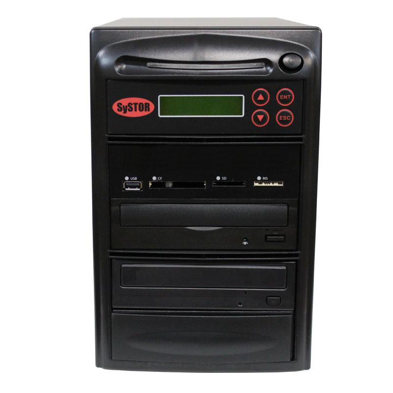 Systor 1:1 MultiMedia Center - USB/SD/CF to CD/DVD Duplicator (PMBC-1)