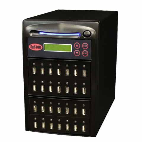 SySTOR 1:27 Multiple USB Thumb Drive Duplicator / USB Flash Card Sanitizer - (SYS-USBD-27)
