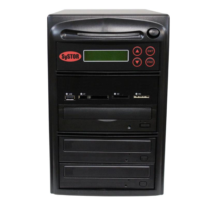 Systor MultiMedia Center - Flash Memory Drive (USB/SD/CF/MS/MMC) to Disc Backup + 1 to 2 SATA CD/DVD/M-Disc Duplicator - MDISC-MBC-2