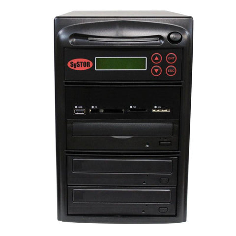 Systor MultiMedia Center - Flash Memory Drive (USB/SD/CF/MS/MMC) to Disc Backup + 1 to 2 SATA CD/DVD Duplicator - PMBC-2