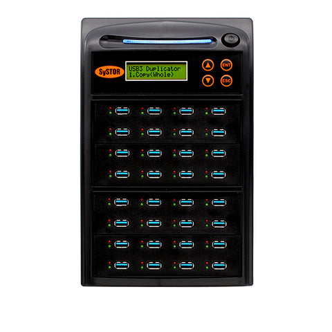 Systor 1:31 USB 3.1 100MB/s Flash Drive Duplicator - (SYS-USB30100-31) - Up to 6GB per Minute
