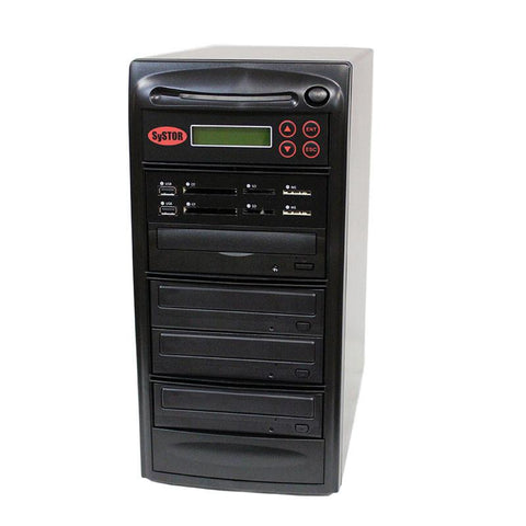 Systor 1:3 MultiMedia Center Plus - USB/SD/CF & CD DVD Duplicator (PMBC-P-03)