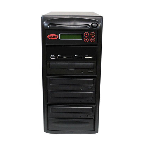 Systor MultiMedia Center - Flash Memory Drive (USB/SD/CF/MS/MMC) to Disc Backup + 1 to 3 SATA CD/DVD Duplicator - PMBC-3