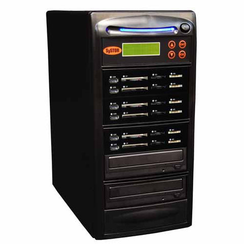 SySTOR 1:5 USB/SD/CF All in One Combo Flash Memory Card Duplicator - (SYS-USBSDCF-05)