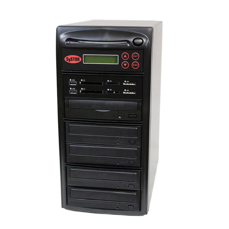 Systor MultiMedia Center PLUS - Flash Memory Drive (USB/SD/CF/MS/MMC) to Disc Backup + 1 to 4 SATA CD/DVD Duplicator - PMBC-P-04