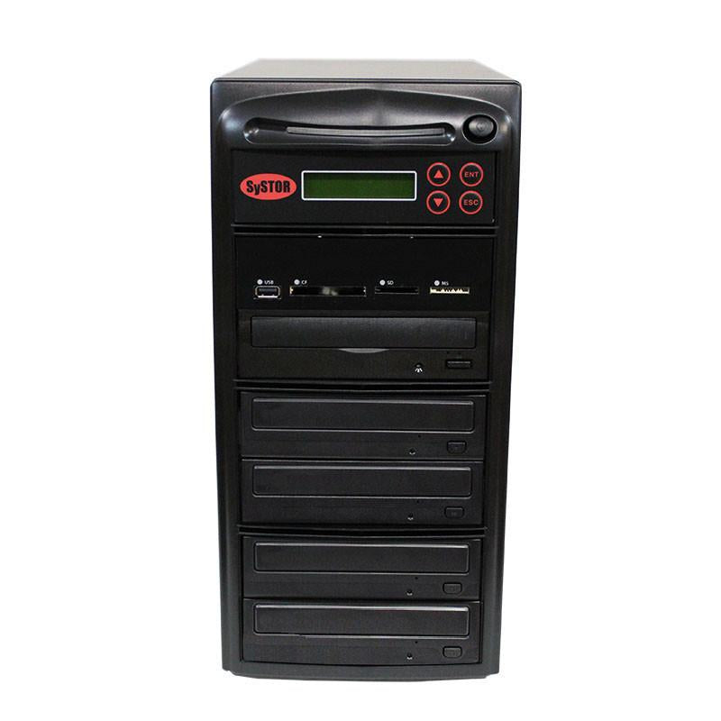 Systor MultiMedia Center - Flash Memory Drive (USB/SD/CF/MS/MMC) to Disc Backup + 1 to 4 SATA CD/DVD/M-Disc Duplicator - MDISC-MBC-4
