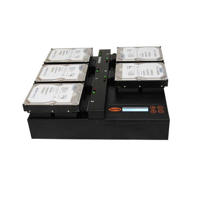 SySTOR 1:4 SATA Hard Disk Drive / Solid State Drive (HDD/SSD) Flatbed Clone Duplicator/Sanitizer - High Speed (150MB/sec) (SYS404HDD)