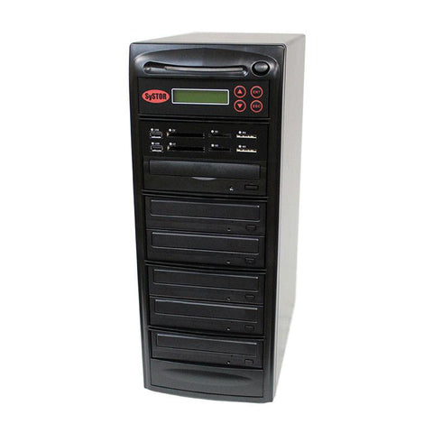 Systor MultiMedia Center PLUS - Flash Memory Drive (USB/SD/CF/MS/MMC) to Disc Backup + 1 to 5 SATA CD/DVD Duplicator - PMBC-P-05