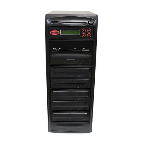 Systor MultiMedia Center - Flash Memory Drive (USB/SD/CF/MS/MMC) to Disc Backup + 1 to 5 SATA CD/DVD/M-Disc Duplicator - MDISC-MBC-5
