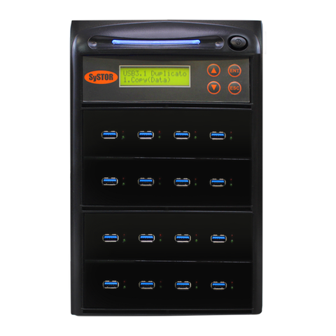 Systor 1:15 300MB/s USB 3.0/3.1 Duplicator - Multiple Flash Drive Copier, Up To 18GB Per Minute (SYS-USB30-15)