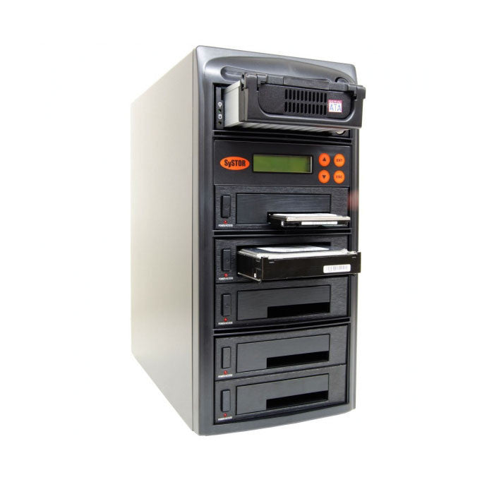 SySTOR 1:5 SATA/IDE Combo Hard Disk Drive / Solid State Drive (HDD/SSD)  Clone Duplicator/Sanitizer - (90MB/sec) (SYS405HS)
