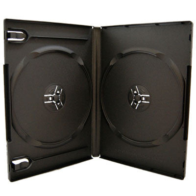 14mm Machine Pack Double Disc Capacity Black DVD Cases - ProDuplicator.com