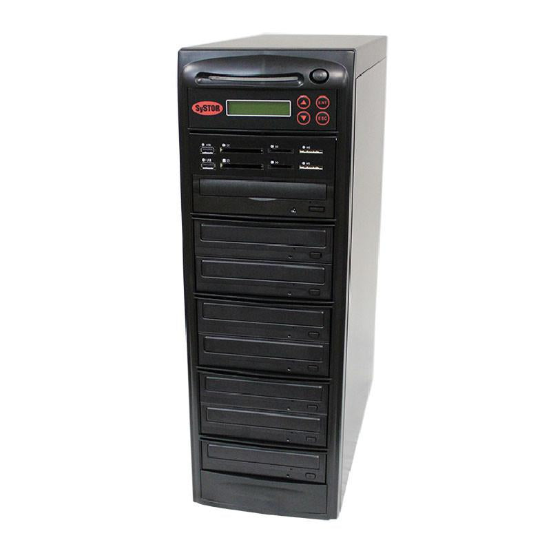 Systor MultiMedia Center PLUS - Flash Memory Drive (USB/SD/CF/MS/MMC) to Disc Backup + 1 to 7 SATA CD/DVD Duplicator - PMBC-P-07