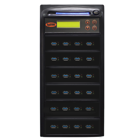 Systor 1:23 300MB/s USB 3.0/3.1 Duplicator - Multiple Flash Drive Copier, Up To 18GB Per Minute (SYS-USB30-23)