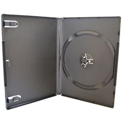14mm Machine Pack Single Disc Capacity Black DVD Cases - ProDuplicator.com