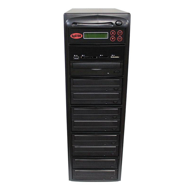 Systor 1:8 MultiMedia Center - USB/SD/CF to CD/DVD Duplicator (PMBC-8)