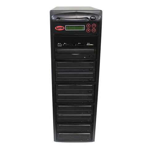 Systor MultiMedia Center - Flash Memory Drive (USB/SD/CF/MS/MMC) to Disc Backup + 1 to 8 SATA CD/DVD Duplicator - PMBC-8
