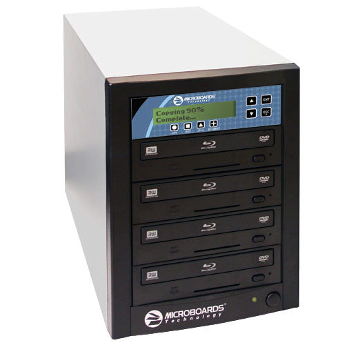 1 to 4 Microboards Blu-Ray DVD CD Tower Duplicator - ProDuplicator.com