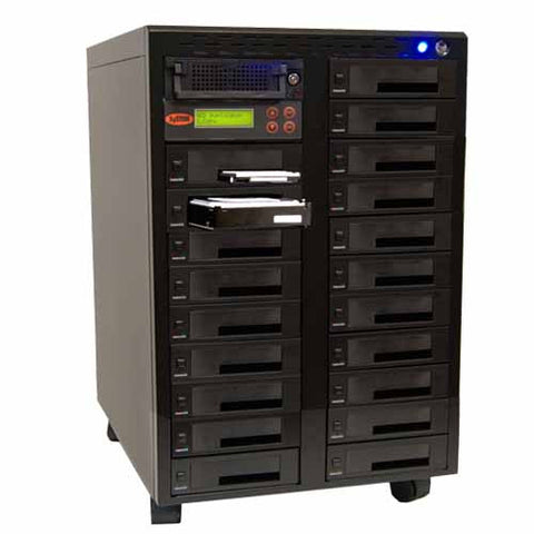 SySTOR 1:20 SATA/IDE Combo Hard Disk Drive / Solid State Drive (HDD/SSD) Clone Duplicator/Sanitizer - High Speed (300MB/sec) (SYS3020CO)