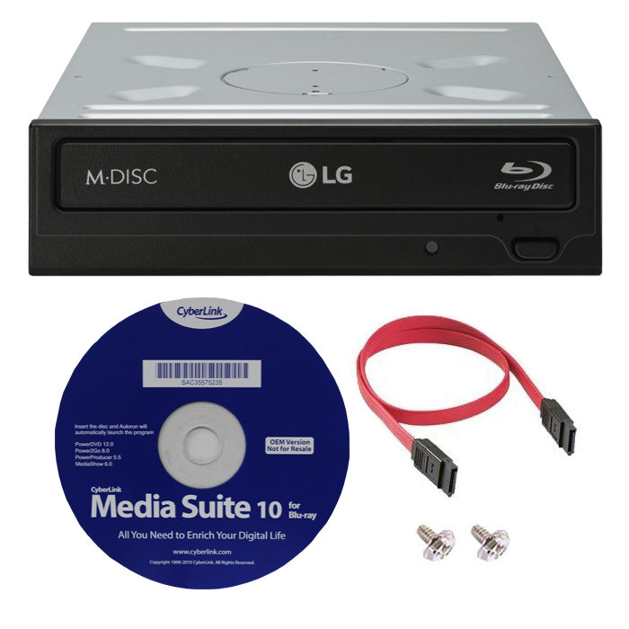 LG WH16NS40K 16X Super Multi Internal Blu-ray BDXL DVD CD M-Disc Writer Drive with 3D Playback