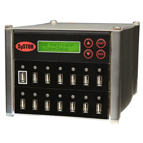 Systor 1 to 13 Multiple USB Thumb Drive Duplicator & Sanitizer (up to 2GB Per Minute) - SYS-USBD-13