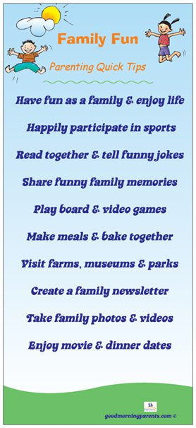 Family Fun Incentive Cards
